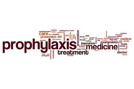 Prophylaxis word cloud concept Stock Photo