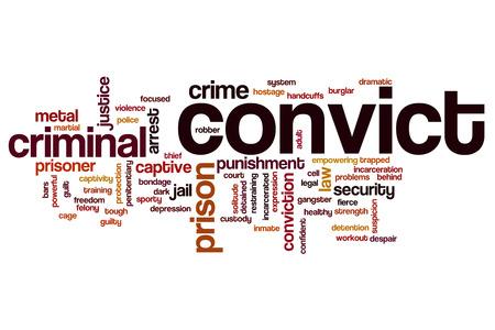 convict: Convict word cloud concept