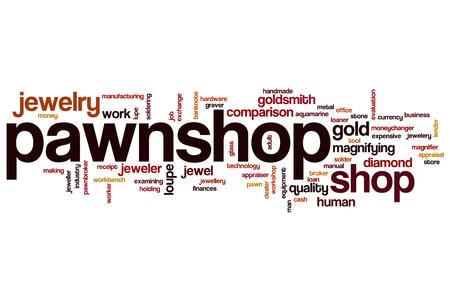 Pawnshop word cloud concept