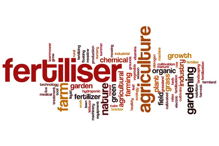 Fertiliser word cloud concept Stock Photo