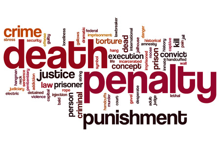 incarcerated: Death penalty word cloud concept