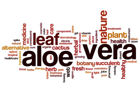 Aloe vera word cloud concept