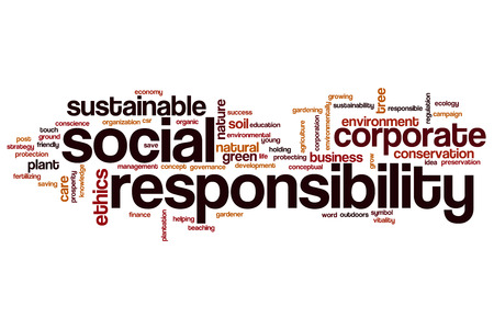 Social responsibility word cloud concept