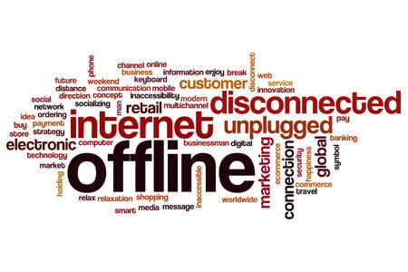 offline: Offline word cloud concept