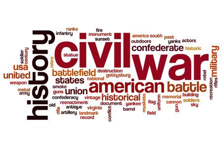 civil war: Civil war word cloud concept Stock Photo
