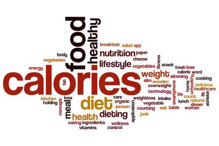 Calories word cloud concept Stock Photo