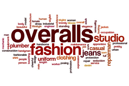 overalls: Overalls word cloud concept