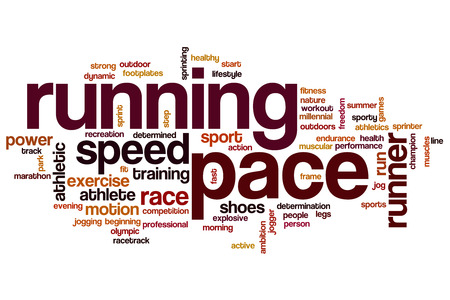 pace: Running pace word cloud concept