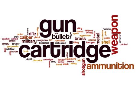 Gun cartridge word cloud concept Stock Photo