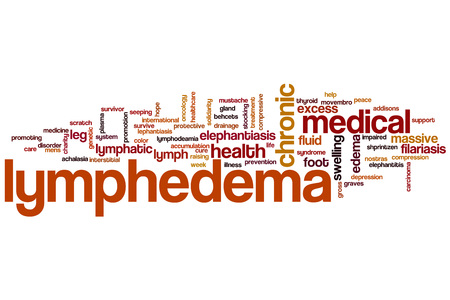 Lymphedema word cloud concept 스톡 콘텐츠