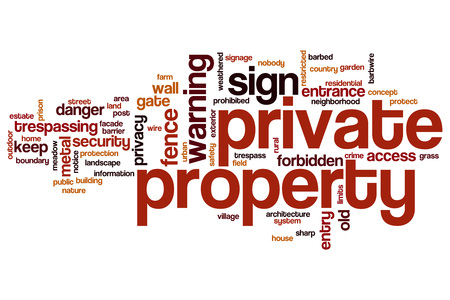 Private property word cloud concept Stock Photo
