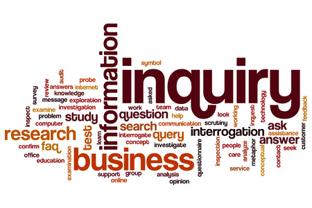 inquiry: Inquiry word cloud concept