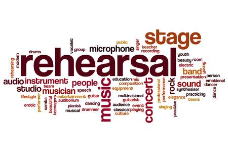 rehearsal: Rehearsal word cloud concept