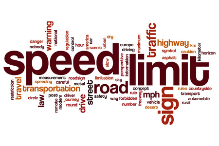 Speed limit word cloud concept