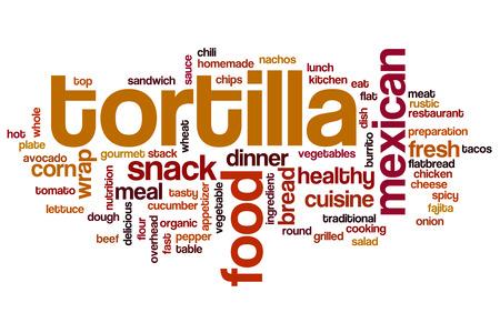 tortilla: Tortilla word cloud concept