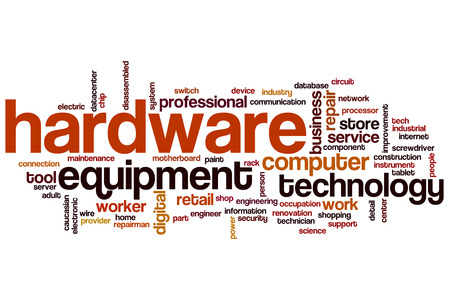 hardware: Hardware word cloud concept Stock Photo