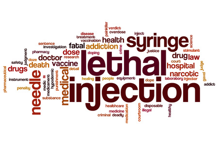 lethal: Lethal injection word cloud concept