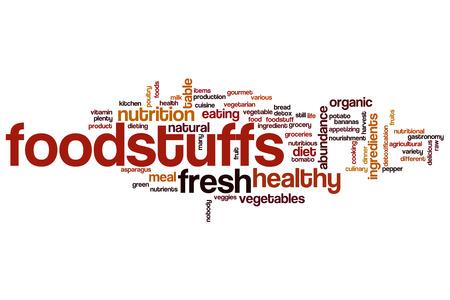foodstuffs: Foodstuffs word cloud concept Stock Photo