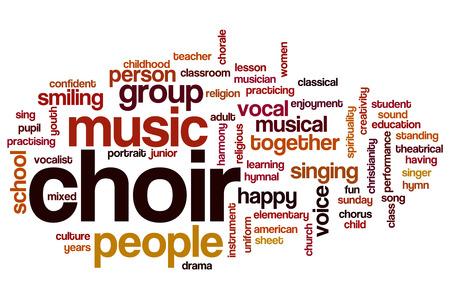 Choir word cloud concept