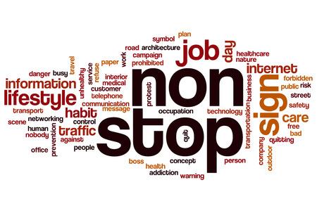 non: Non stop word cloud concept