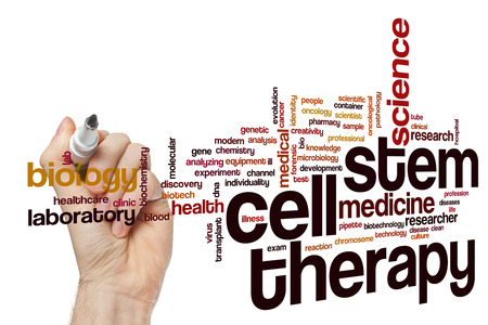 Stem cell therapy word cloud concept