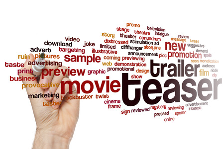Teaser word cloud concept Stock Photo