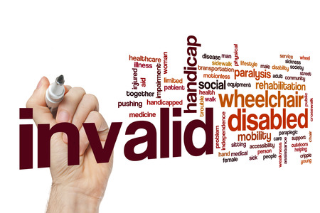 Invalid word cloud Stock Photo
