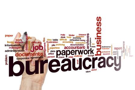 bureaucracy: Bureaucracy word cloud Stock Photo