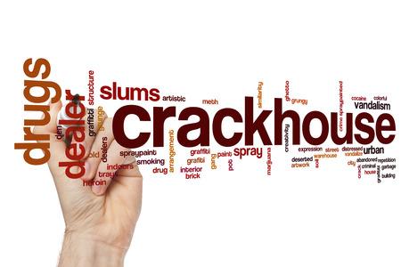 meth: Crackhouse word cloud concept