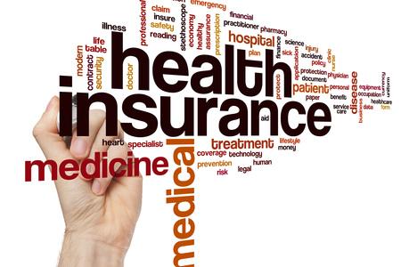 Health insurance word cloud