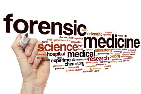 forensic medicine: Forensic medicine word cloud concept
