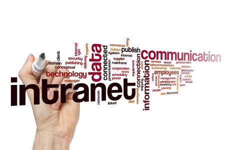 Intranet word cloud Stock Photo