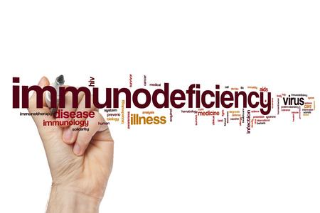 immunodeficiency: Immunodeficiency word cloud concept