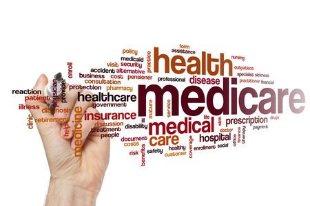 health care provider: Medicare word cloud concept Stock Photo