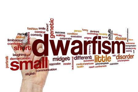 demarcation: Dwarfism word cloud concept