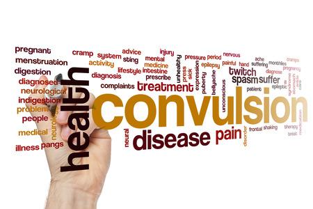convulsión: Convulsion word cloud concept