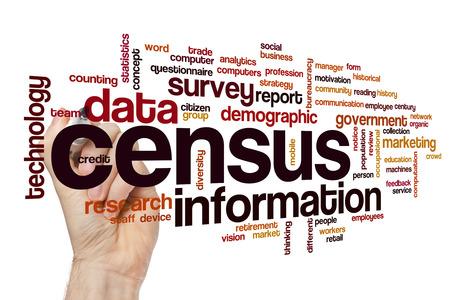 Census word cloud concept