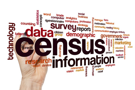 Census word cloud concept