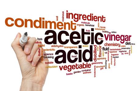 acetic acid: Acetic acid word cloud concept Stock Photo