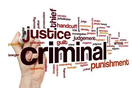 criminal: Criminal word cloud