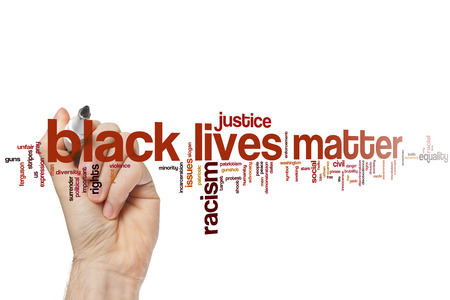 the traffic movement police: Black lives matter word cloud Stock Photo