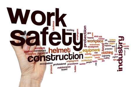 building regulations: Work safety word cloud concept
