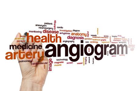 Angiogram word cloud concept