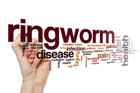 fungal disease: Ringworm word cloud