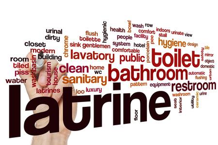 latrine: Latrine word cloud concept Stock Photo