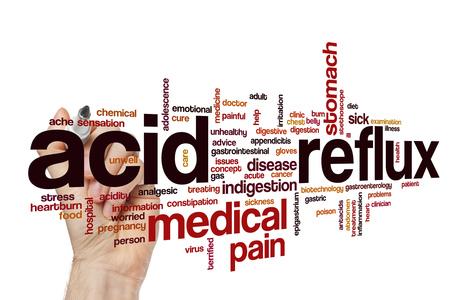 Acid reflux word cloud Stock Photo - 65535990