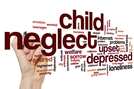 neglect: Child neglect word cloud concept