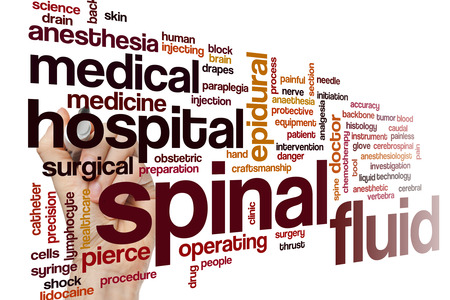 analgesia: Spinal fluid word cloud
