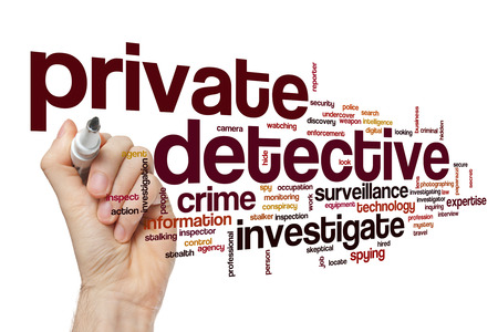 private cloud: Private detective word cloud concept
