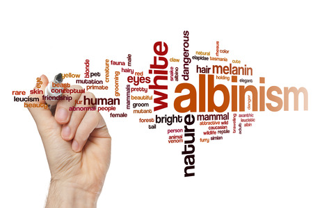 Albinism word cloud concept Stock Photo